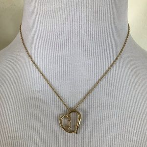 Jewelry - Goldtn TILTED HEART Necklace